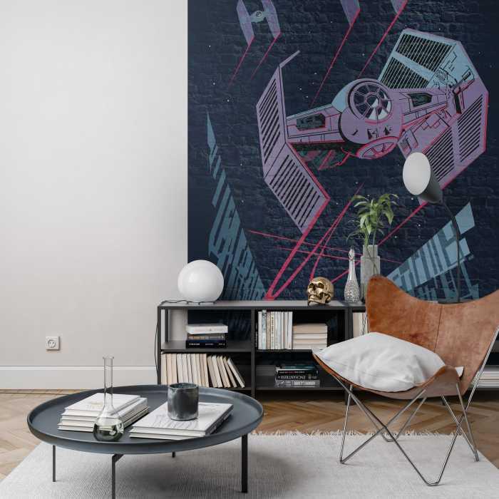 Poster XXL impression numérique Star Wars Classic Concrete TIE-Fighter