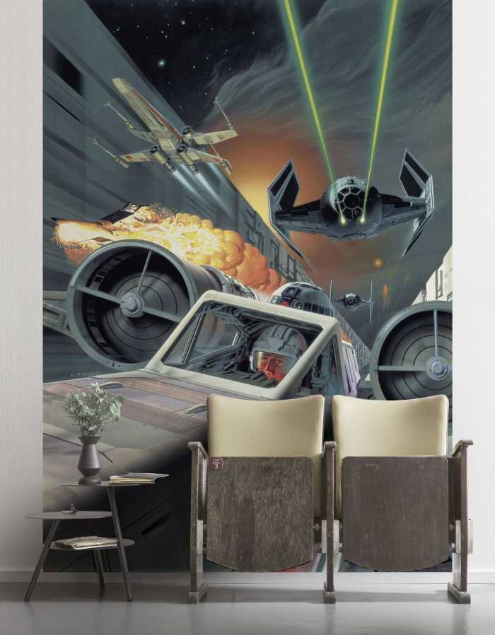 Poster XXL impression numérique Star Wars Classic Death Star Trench Run
