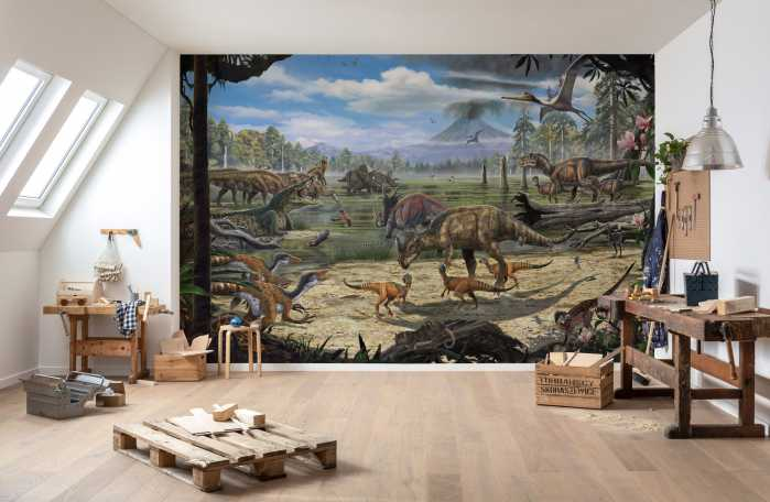 Poster XXL impression numérique Dinosaurs on the Shore