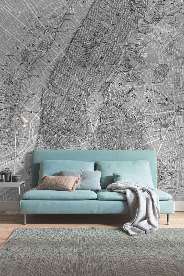 Poster XXL impression numérique NYC Map