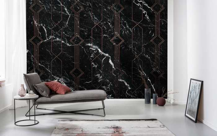 Poster XXL impression numérique Marble Black