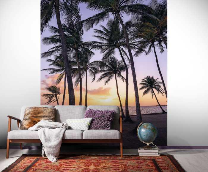 Poster XXL impression numérique Palmtrees on Beach
