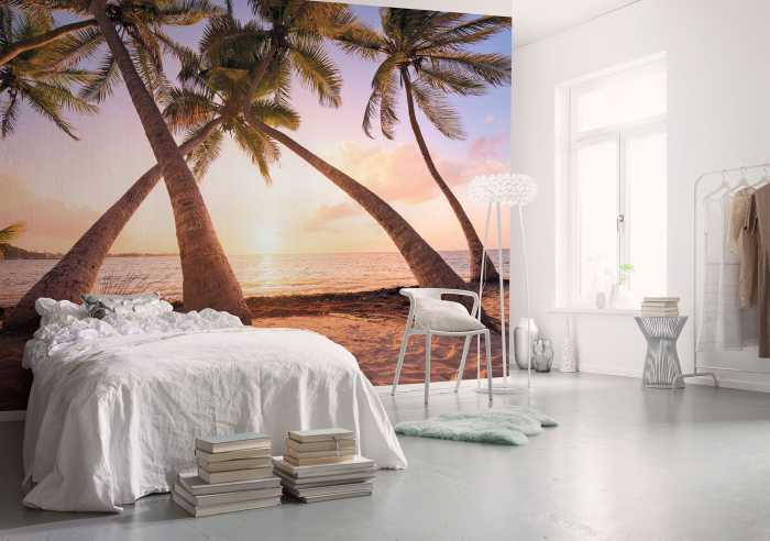 poster xxl panoramique intiss paradise morning de stefan hefele. Black Bedroom Furniture Sets. Home Design Ideas
