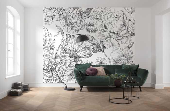 Poster XXL impression numérique Flowerbed