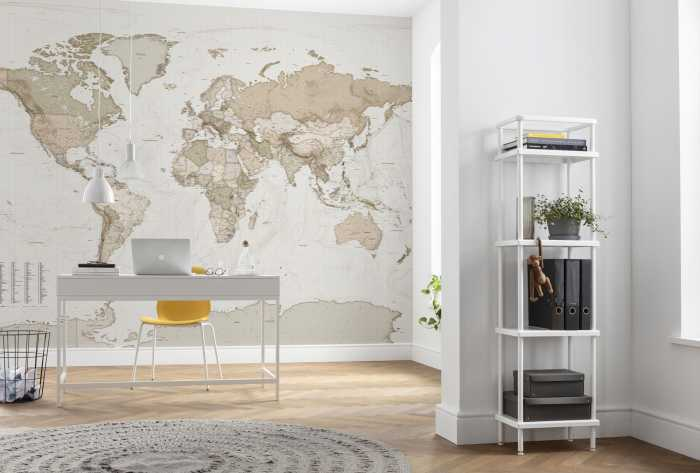 Poster XXL impression numérique Earth Map