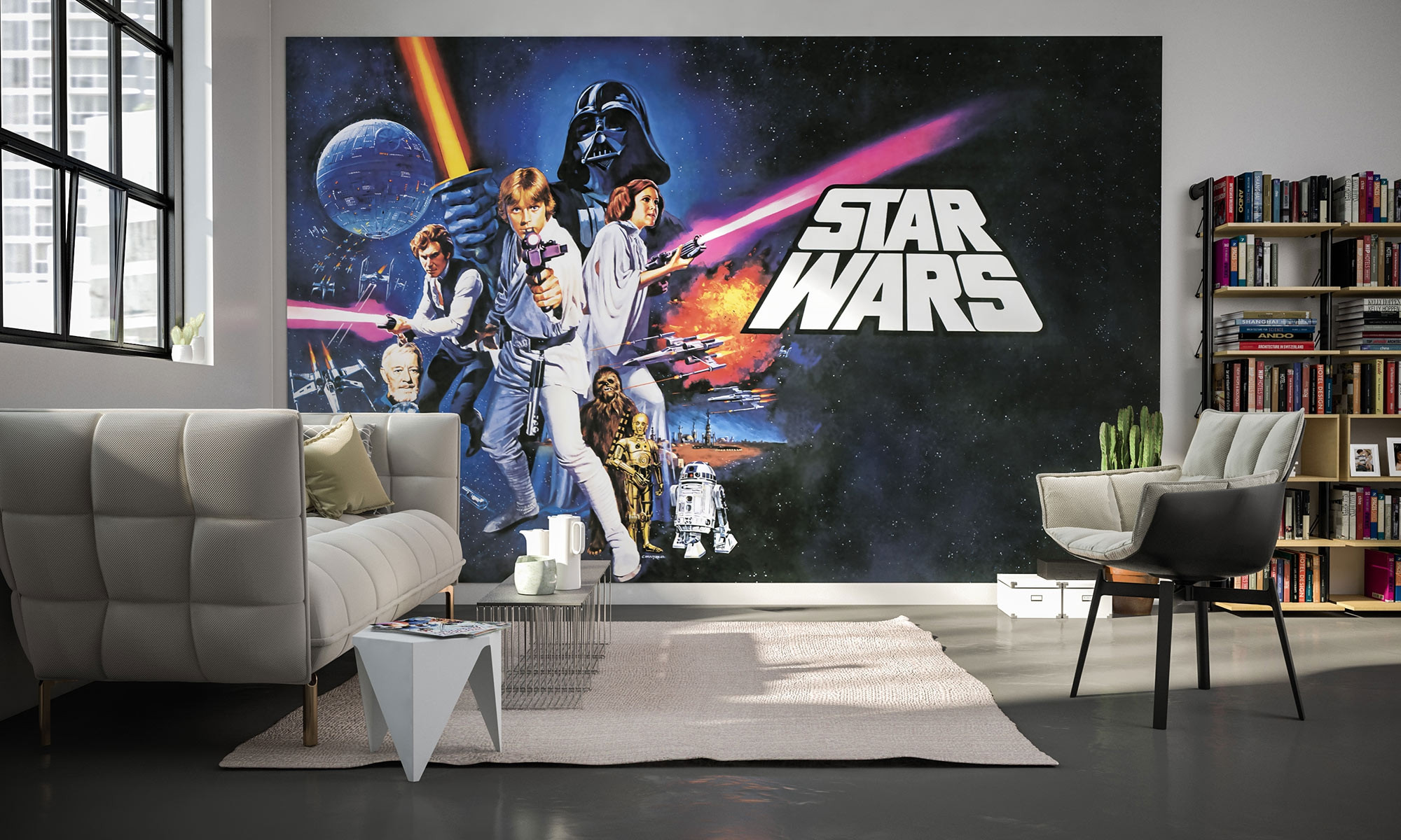 photo murale intiss star wars poster classic 1 de komar. Black Bedroom Furniture Sets. Home Design Ideas