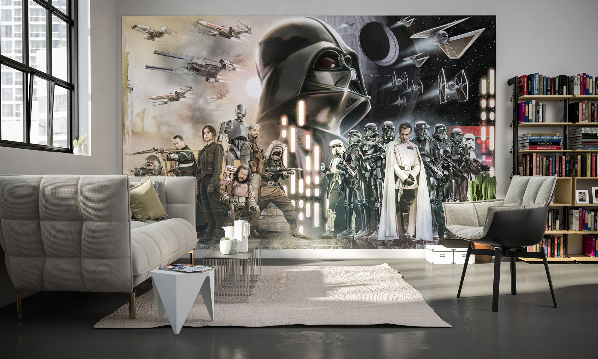 photo murale intiss star wars collage de komar. Black Bedroom Furniture Sets. Home Design Ideas