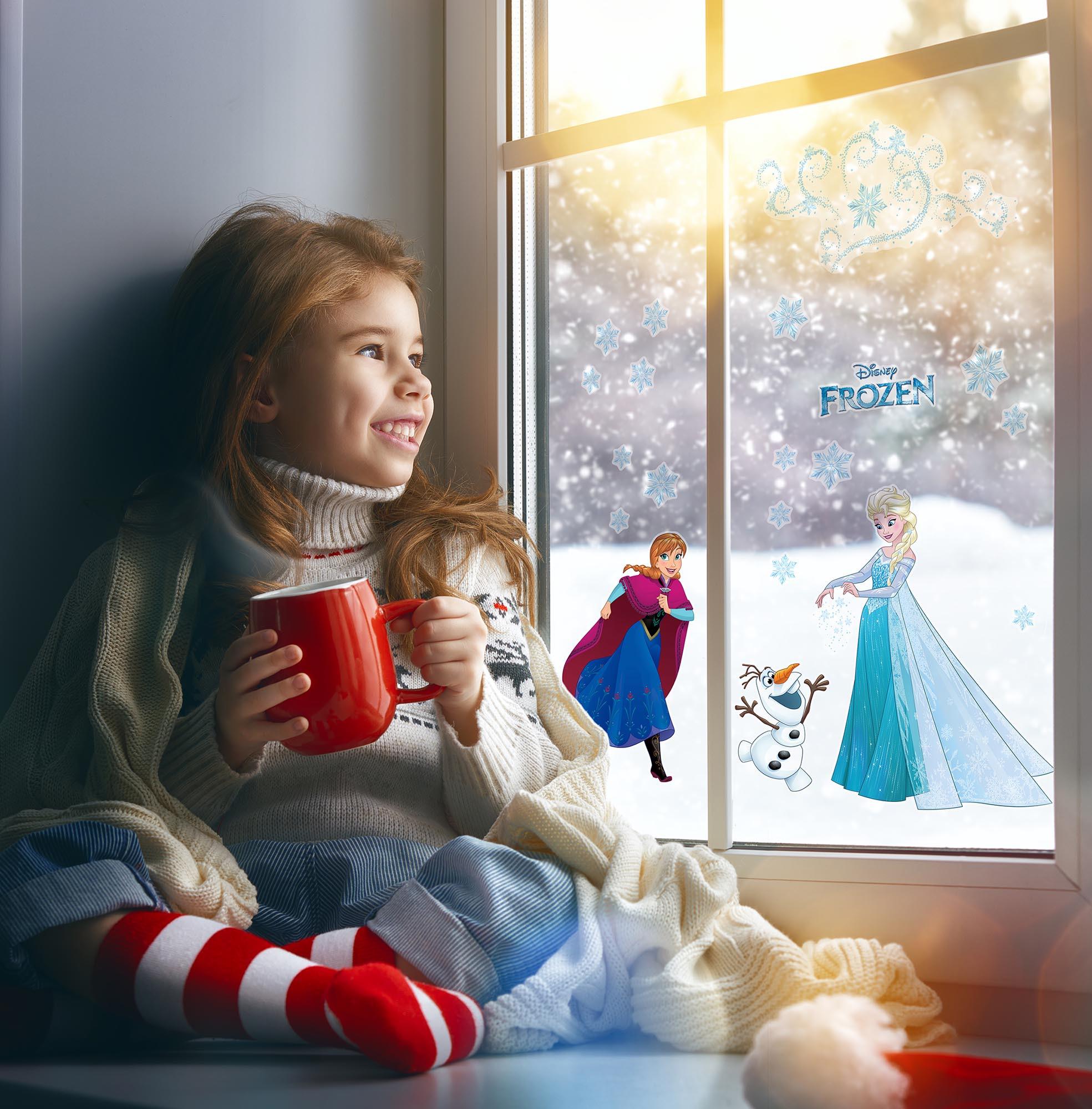 Stickers Pour Fenetre Chambre sticker fenêtre «frozen snowflake» de komar | disney