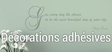 Decorations adhesives